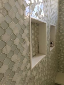 Glass Tiling Contractor with Arabesque