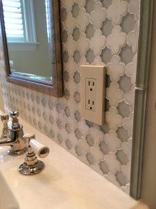 Contractor for contemporary bathroom backsplash